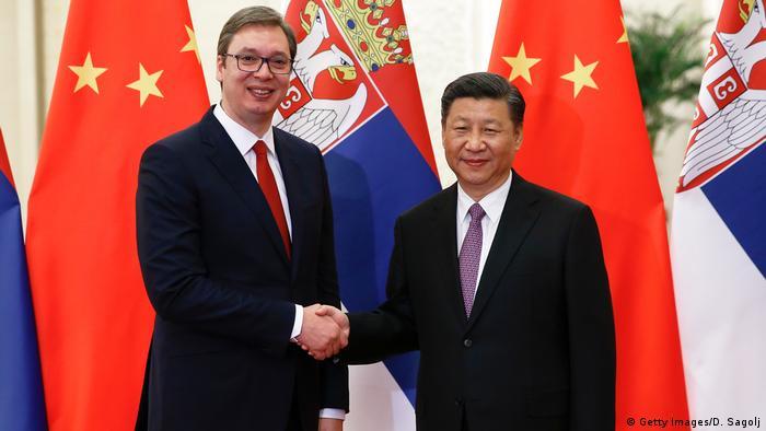 China Peking Xi Jinping Aleksandar Vucic Ministerpräsident Serbien
