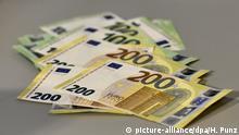 Präsentation der neuen Euro Banknoten
