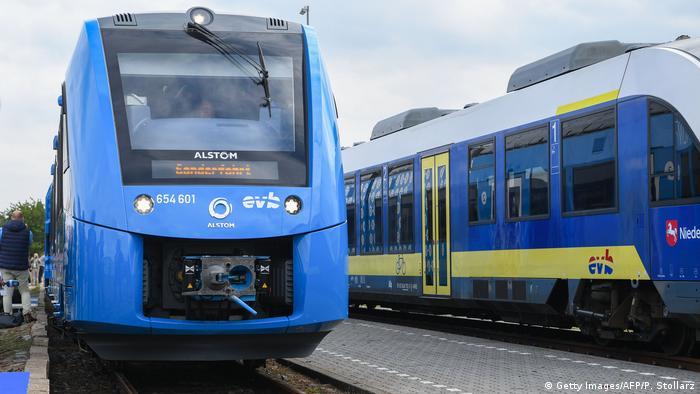 Trem movido a hidrogênio da Alstom (Getty Images/AFP/P. Stollarz)
