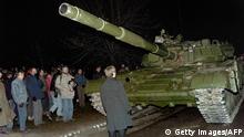 Litauen Protest gegen die Rote Armee