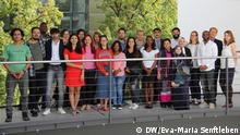26 students from 18 different countries: This is the 10th intake of DW Akademie's International Media Studies. (DW/Eva-Maria Senftleben)
