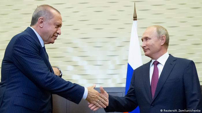 Russian President Putin meets with his Turkish counterpart Erdogan in Sochi