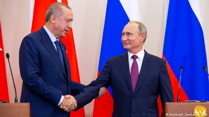 Реждеп Тайип Эрдоган и Владимир Путин