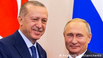 Эрдоган и Путин на встрече в Сочи в 2018 году