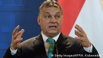 Ungarn Viktor Orban in Budapest (Getty Images/AFP/A. Kisbenedek)