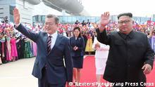 Nordkorea Moon trifft zu drittem Korea-Gipfel in Pjöngjang ein