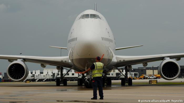 A Boeing 747-8