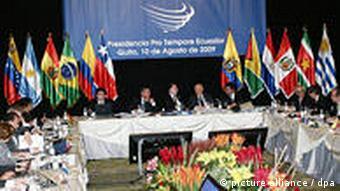 Der UNASUR-Gipfel in Quito, Foto: ap