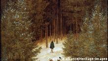 'Hunter in the forest', 1813 - 1814 by Caspar Friedrich. (Index / Heritage-Images) | Verwendung weltweit, Keine Weitergabe an Wiederverkäufer.