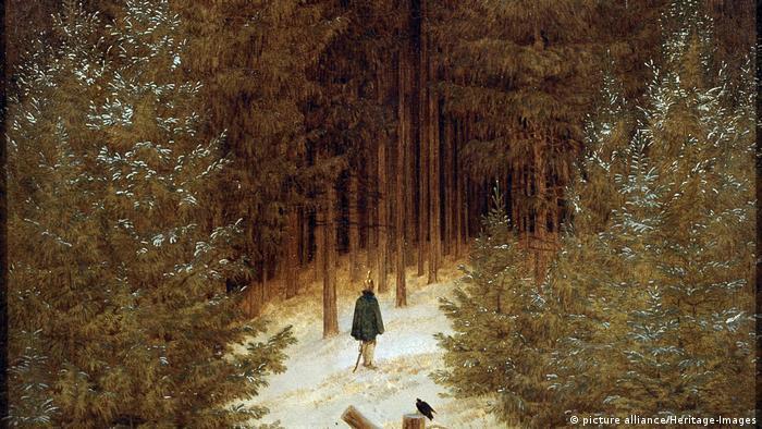 Gemälde mit einem Soldaten im Wald von Caspar David Friedrich