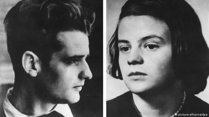 Portrait photos of siblings Hans und Sophie Scholl (picture-alliance/dpa)