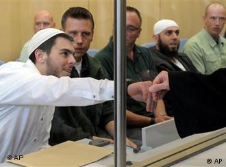 Члены зауэрландской ячейки, фото из зала суда