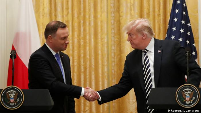 USA Washington - Donald Trump trifft auf Andrzej Duda (Reuters/K. Lamarque)