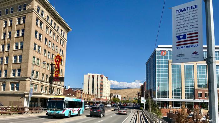Straßenszene in Missoula, in Montana/USA
