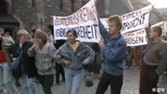 Демонстрация протеста в Лейпциге в 1989 году
