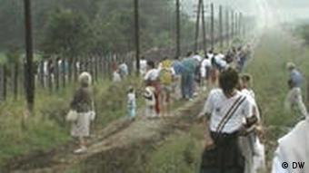 Fleeing East Germans
