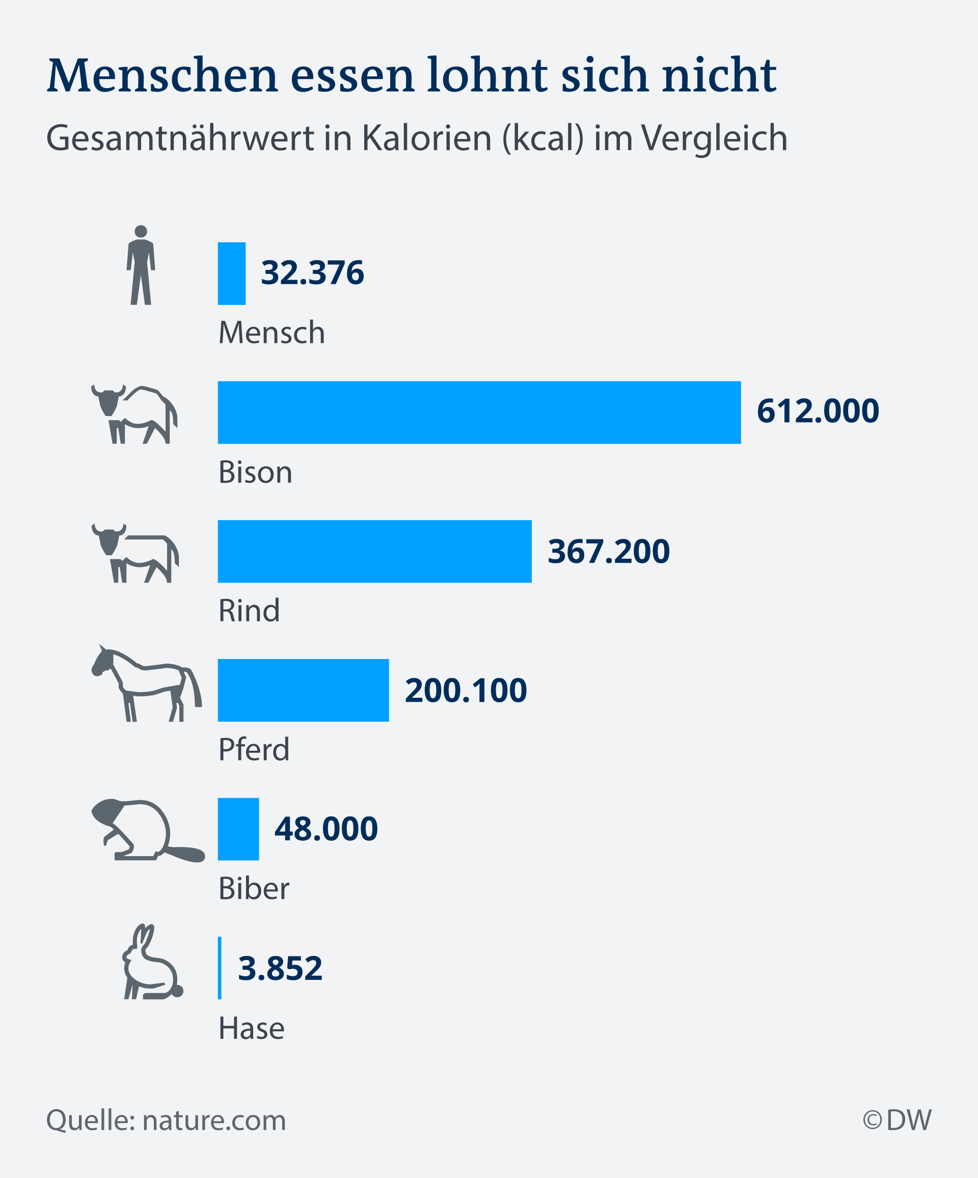Infografik Menschen essen lohnt sich nicht DE