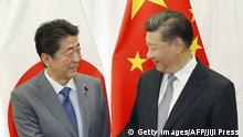 Russland Eastern Economic Forum Shinzo Abe und Xi Jinping
