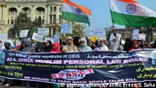 Indien Protest gegen Triple Talaq (picture-alliance/Pacific Press/S. Saha)
