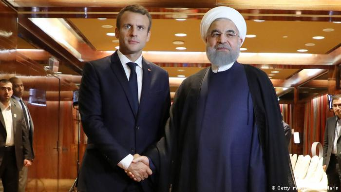 USA New York - Emmanuel Macron trifft auf Hassan Rouhani (Getty Images/AFP/L. Marin)