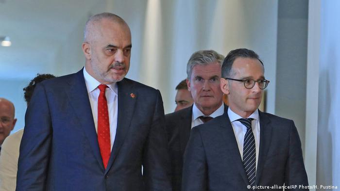Albanien Edi Rama und Heiko Maas
