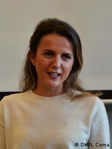Rudina Hajdari | Abgeordneter der Demokratischen Partei Albaniens (DW/A. Cama)