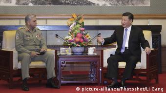 China Qamar Javed Bajwa und Xi Jinping