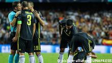 Fussball Valencia gegen Juventus