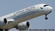 Airbus der Fluggesellschaft Cathay Pacific Airways