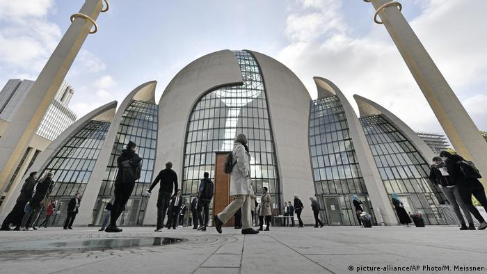The central DITIB mosque on the 'Day of Open Mosques' in Cologne, North Rhine-Westphalia.