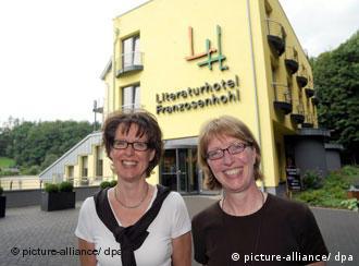 Empresárias Andrea Reichart (d) e Hilla Holzhauer
