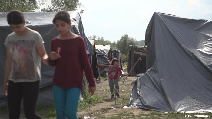 Young refugees at Velika Kladusa