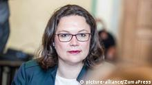 Andrea Nahles (picture-alliance/ZumaPress)