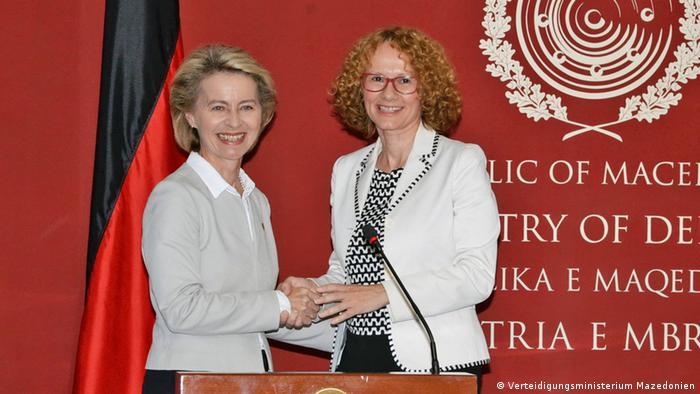Mazedonien Verteidigungsministerin Ursula von der Leyen in Skopje (Verteidigungsministerium Mazedonien)
