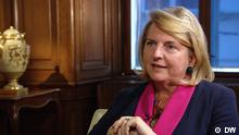 Karin Kneissl, Austrian Foreign Minister in DW Conflict Zone interview, Vienna, September 18, 2018
