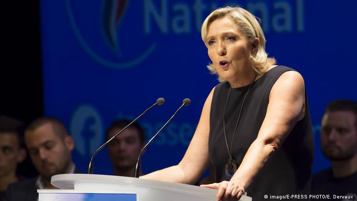 Marine Le Pen, President of the National Rally, the new name for the National Front
