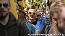 A demonstration by the Identitarian Movement in Berlin (picture-alliance/dpa/R. Kremming)