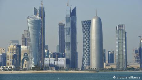 Skyline von Doha, Emirat Katar (picture-alliance)
