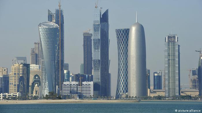 Skyline von Doha, Emirat Katar