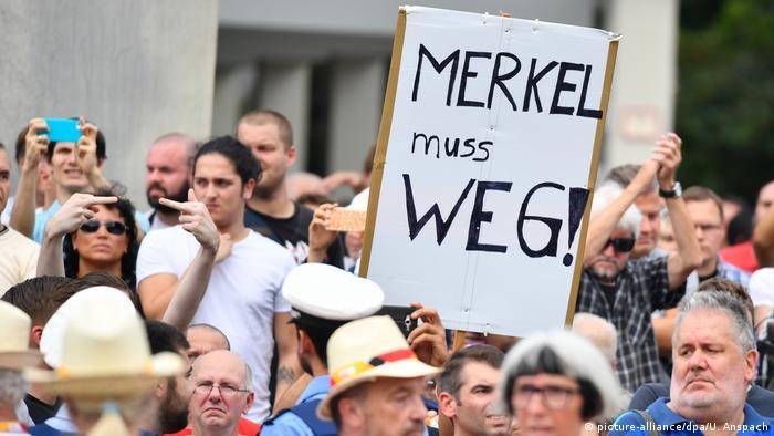 Anti-Merkel sign