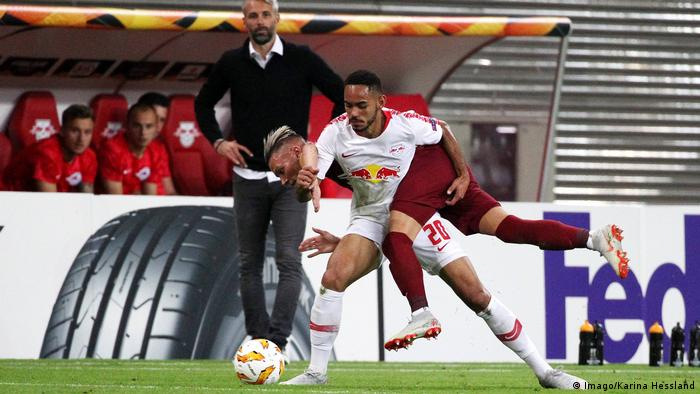 Marco Rose watches on as his Red Bull Salzburg team beat RB Leipzig