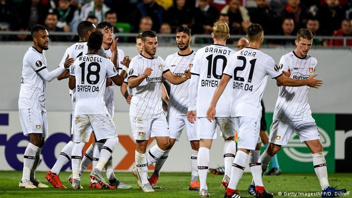 Fußball Europa League LUDOGORETS vs LEVERKUSEN Tor