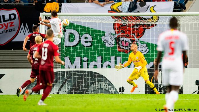 Fußball Europa League RB Leipzig - RB Salzburg Tor (Getty Images/AFP/R. Michael)
