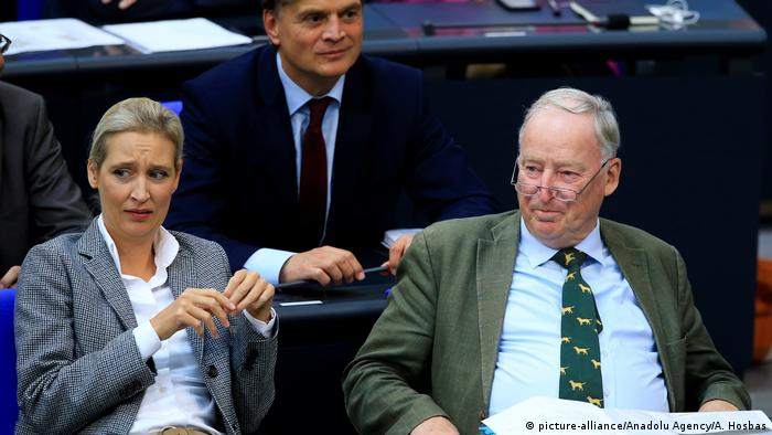 Deutschland Bundestag Haushaltsdebatte   AfD-Fraktion   Weidel & Gauland
