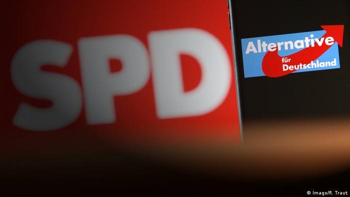 Deutschland Parteien | Logos SPD & AfD (Imago/R. Traut)