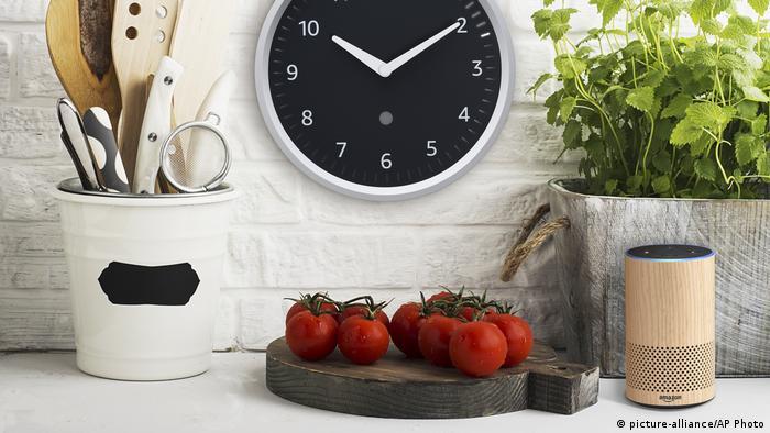 Amazon smart devide in a kitchen