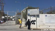 Eingangstor des Camp Moria auf Lesbos
