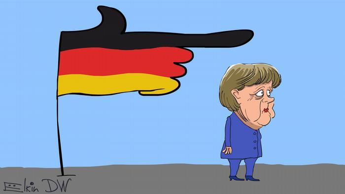 Karikatur von Sergey Elkin Insa-Umfrage