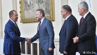 Bosnien Besuch russischer Außenminister Sergei Lawrow
