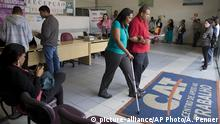 Unemployed residents visit a government-run job center in Sao Paulo, Brazil, Thursday, Sept. 10, 2015. Brazil's financial markets fell Thursday in the aftermath of credit agency Standard & Poor's downgrading the country's sovereign debt to ¿junk¿ status. (AP Photo/Andre Penner) |